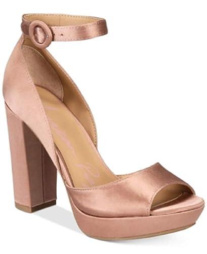 66e83a700905 American Rag Reeta Block-Heel Platform Sand Blush Satin 9M  Amazon.co.uk   Shoes   Bags
