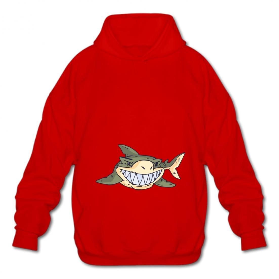 Gizhongqu Fashion Hoodies-03 Cartoon Shark Syoc Mens Cotton Pullover Style Sweatshirts Hoodies
