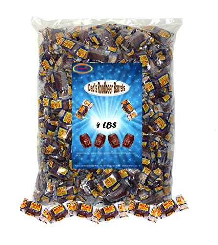 Dad's Root Beer Barrels 4 Lbs Washburn Individually Wrapped Old Fashioned Candy