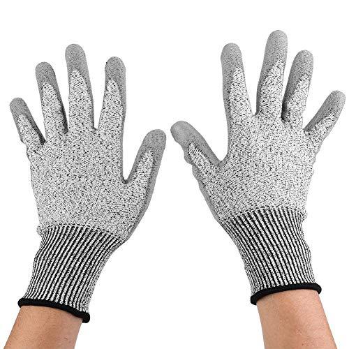 カット耐性の手袋、1ペアのカット耐性の手袋フィレット保護安全手袋ナイフグローブガーデンガーデン用