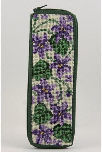 Half-Spec Case Needlepoint Kit Violets