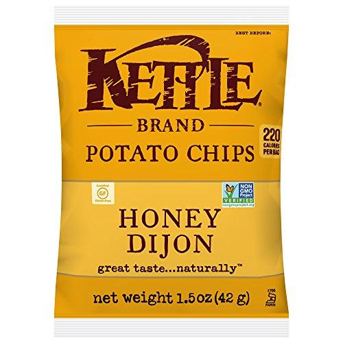 Honey Mustard Brands - Kettle Brand Potato Chips, Honey Dijon, Single-Serve 1.5 Ounce (Pack of 24)