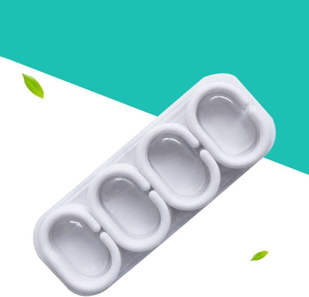 Censhaorme 24pcs Set di plastica Bianca Forma C Bagno Drape Tenda della Doccia Hook Vasca Anello Loop Pieghevole Bagno Cortina di Ganci