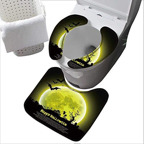 Universal Toilet seat Happy Halloween Message Design Background,Vector Convenient Safety and Hygiene L15 x W 4.3