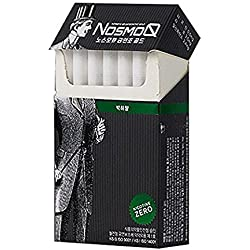 [NosmoQ] Herbal Cigarette 2 packs( 40 sticks), Herbal Sticks, 100% Eucommiae Leaf, Menthol Flavour, No Nicotine , Non Tobacco, No addictive chemicals for Health, Notice: Loose Top Part - No Glycerin