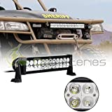 SCITOO 13.5 quot; 72W Led Light Bar - Off Road LED Work Lights Bar Auxiliary Driving Lamp Flood for