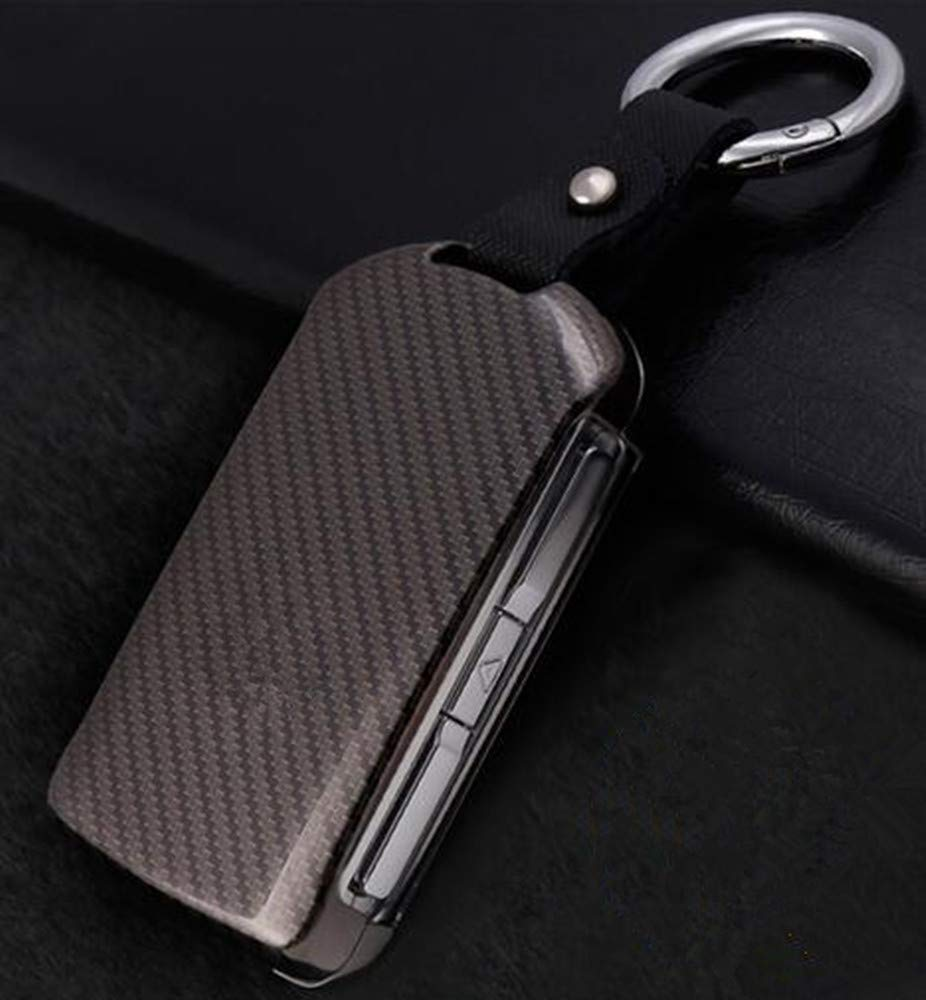 Silver YUWATON Car Remote Key Cover for Volvo XC60 XC90 S90 2015-2018 Key Case Key Chain Key Fob Decoration.