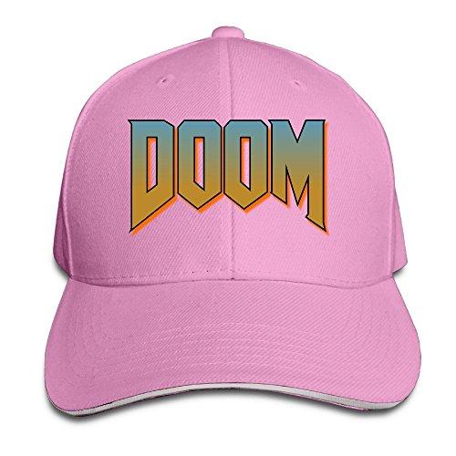 doom-logo-unisex-100-cotton-adjustable-baseball-hat-pink-one-size