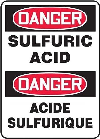 accuform signs fbmchg014vp plastic french bilingual sign legend danger sulfuric acid danger. Black Bedroom Furniture Sets. Home Design Ideas