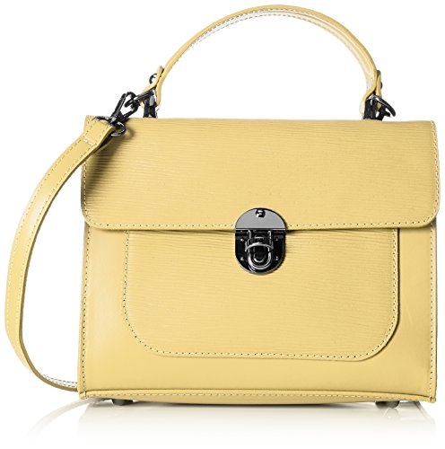 Chicca Borse 8686 - Bolso de hombro Mujer Amarillo (Yellow Yellow)
