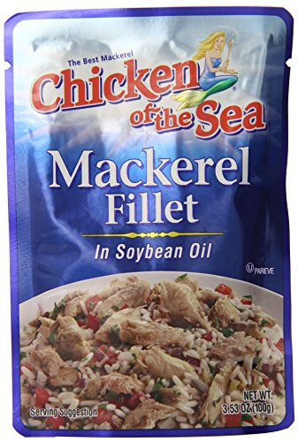 Protein Chicken Fillet - Chicken of the Sea Mackerel Fillet in Soybean Oil, 3.53 Ounce (Pack of 24)