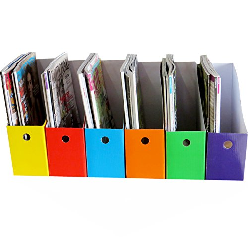 Amazon Six Colorful Magazine Files Home Kitchen Delectable Colorful Magazine Holders