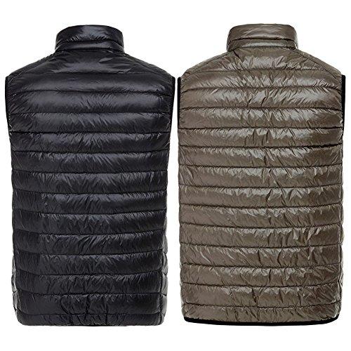 Uomo caff¨¨ Double Wear Vest Solid Nero Inverno Laterale Hibote Gi¨´ zt7wqOgq
