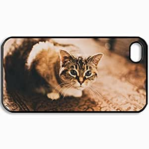 good case Customized Cellphone case cover Back Cover For iPhone 6 plus 5.5 for kids, protective Hardshell case cover Personalized Cat gHMjMBClius View House Black