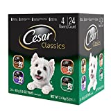 #10: Cesar CLASSICS Poultry Variety Pack Wet Dog Food Trays 3.5 Ounces (Pack of 24)