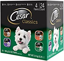 Cesar CLASSICS Poultry Variety Pack Wet Dog Food Trays 3.5 Ounce