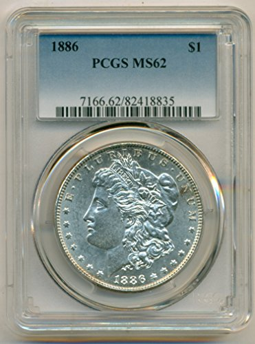1886 Morgan Silver Dollar MS62 PCGS