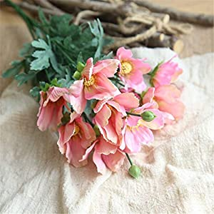 Pack of 5 Cosmos Springs Flowers Artificial Silk Rose Bouquets Wedding Home Decoration for Home Wedding Decor 105