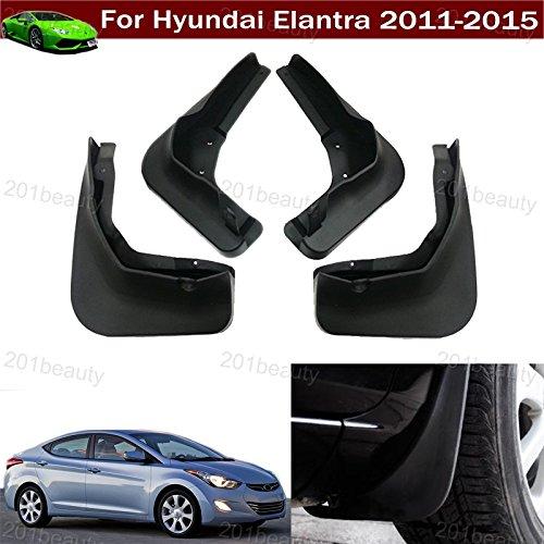 New 4pcs Car Mud Flap Splash Guard Fender Mudguard For Hyundai Elantra 2011 2012 2013 2014 2015 ( Not fit for Elantra SE modal)