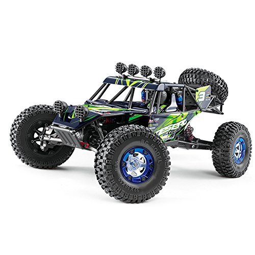 KAWO Buggy Style RC Car Vehicle 1:12 2.4G 4WD High-speed Desert Off-Road Racing RC Truck(Green)