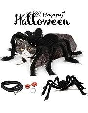 Spinnenkostuum voor honden en katten, Halloween huisdierkostuum, huisdierkleding voor honden en katten, hondenkostuum spin voor Halloween, cosplay party met 2 pompkin bellen