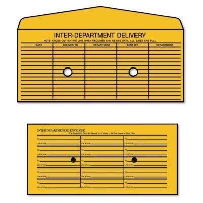 QUA63262 - Quality Park Brown Kraft Fold Flap Kraft Trade Size Interoffice Envelope by Quality Park