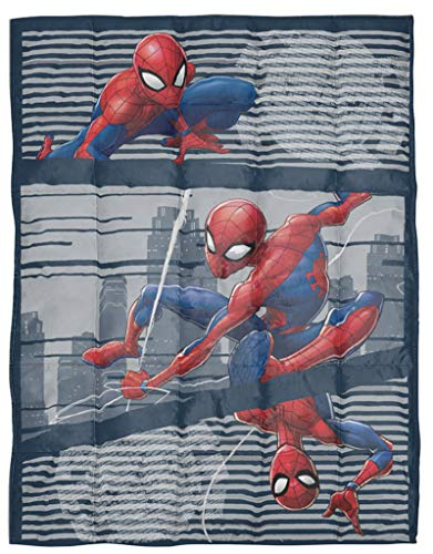 Cheap Jay Franco Marvel Spiderman Web Weighted Blanket 4.5 lbs - Measures 36 x 48 inches Kids Bedding - Fade Resistant Super Soft Velboa - (Official Marvel Product) Black Friday & Cyber Monday 2019