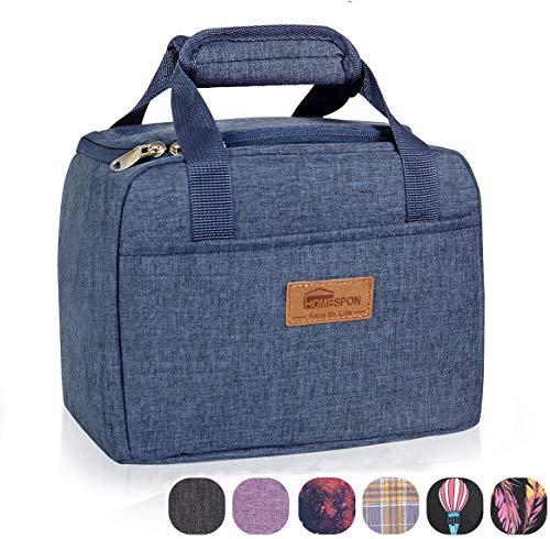HOMESPON Insulated Lunch Bag Lunch Box Cooler Tote Box Cooler Bag Lunch Container for Women/Men/Children/School/Work/Picnic,dark blue