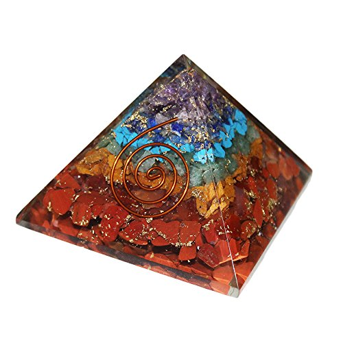 45ef5b8a7a7 FairyBells Kart Energised Orgonite 7 Chakra Pyramid 2.5