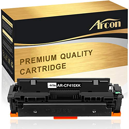 Arcon Compatible Toner Cartridge Replacement for HP 410X CF410X 410A CF410A Use with HP Color Laserjet Pro MFP M477fnw M477fdw M477fdn M477, M452dn M452nw M452dw M452 M377dw Printer Ink - 1Pack Black