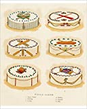10X8 PRINT. 10x8 inch (25x20cm) Print Artwork depicting Picnic Cakes with sports decorations -- lawn tennis, coaching, cricket, boating, football, polo. circa 1890. High quality RA4 prints. Printed on high quality matte Fuji Film Crystal Archive Pape...