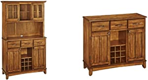 Buffet of Buffets Cottage Oak with Wood Top by Home Styles & ffets Cottage Oak with Wood Top by Home Styles, Large Server with Cottage Oak Wood Top