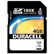 Duracell-4GB Duracell Pro Photo 150X SD SDHC Class 6 Secure Digital High Capacity Memory Card for Media & Data Storage-Duracell