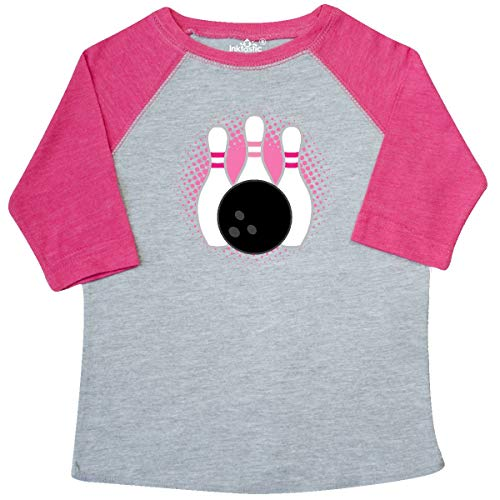 inktastic - Bowling Pins Cute Toddler T-Shirt 3T Heather and Hot Pink 3344b