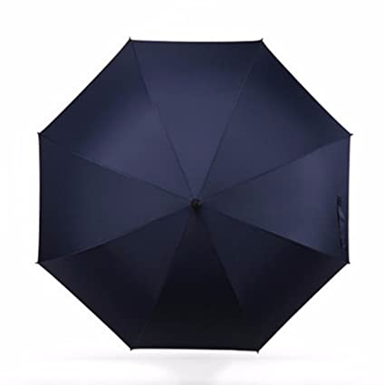 SSBY Paraguas de golf con mango largo recto, doble paraguas para hombre, de fibra