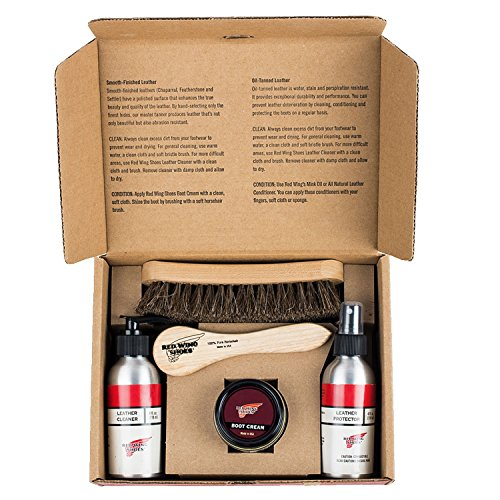 Red Wing Men's Care Kits for Smooth and S One Size Smooth Finished Leather (Red Wing Heritage Boot Care Kit Gift Box)