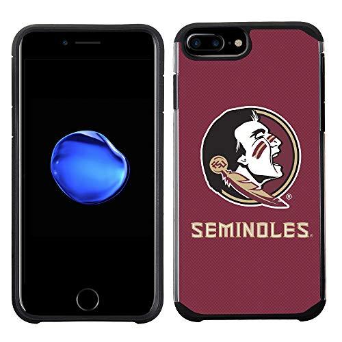 Prime Brands Group Textured Team Color Cell Phone Case for Apple iPhone 8 Plus/7 Plus/6S Plus/6 Plus - NCAA Licensed Florida State University Seminoles