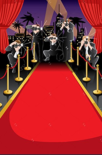 Hollywood red carpet paparazzi celebrity photo backdrop High-grade portrait cloth Computer printed party photography studio background (Paparazzi Backdrop)