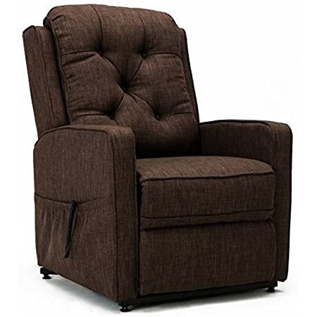 Amazon.com: Comfort Pointe Paxton Brown Track Arm Lift Chair ...