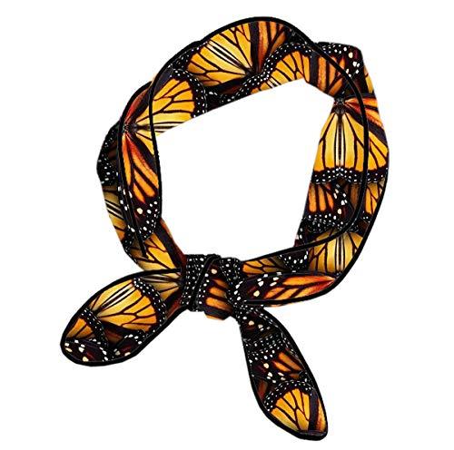 - Women Knotted Headbands Multifunction Heaps Of Orange Monarch Butterflies Head Ribbon Fashion Neck Scarf For Running Fitness Spa, Headbands For Girls Hand Decor Handbag Wrap