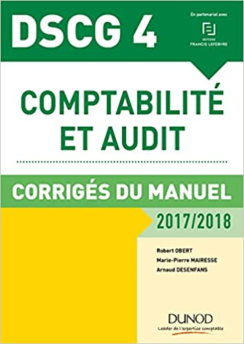 Amazon Fr Dscg 4 Comptabilite Et Audit 2017 2018 8e