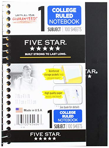12 Pack of Mead Five Star Personal Spiral Notebook, 7