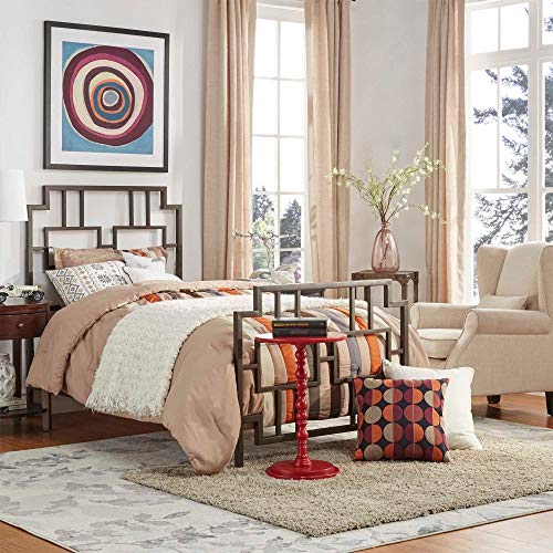 (Inspire Q Bordeaux Window Geometric Metal Bed by Classic Twin )
