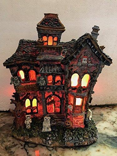 Boyd's Bears BooBeary Acres Haunted Mansion light-up Halloween figurine