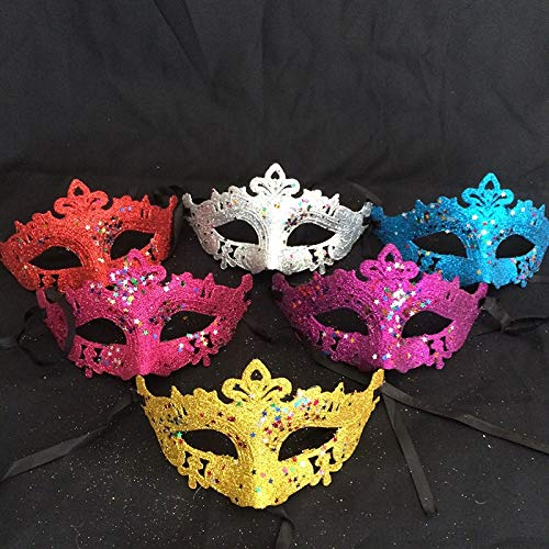 Party Masks - Women Fairy Eye Mask Masquerade Party Dress Carnival Fancy Ball Costome - Napkins Items Outfit Signs Personalized Masks Pack Accessories Theme Realistic Decorations Photo Arch ()