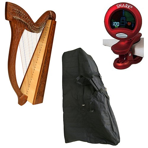 Roosebeck Minstrel Harp 29-String Deluxe Package w/Gig Bag, and Tuner