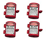 ZING 7105 RecycLockout Lockout Tagout, Small Plug Lockout, Recycled Plastic (Вundlе оf Fоur)