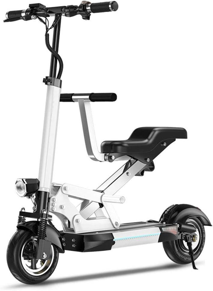 Plegable Bicicleta Eléctrica, Ligero Y Plegable De Aluminio De Bicicletas con Pedales Vespa Coche Pequeño Plegable Portátil De La Batería Batería del Recorrido del Coche,60KM: Amazon.es: Deportes y aire libre
