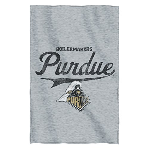 Officially Licensed NCAA Purdue Boilermakers Script Sweatshirt Throw Blanket, 54