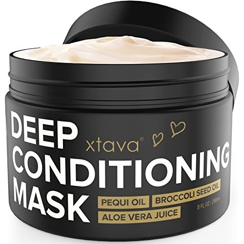 xtava Deep Conditioning Mask Hair Treatment for Dry Damaged Hair 8Fl.Oz - Nourishing Restorative Leave In Conditioner to Repair Split Ends and Damage - Hair Mask Hydrating Moisturizing Cream